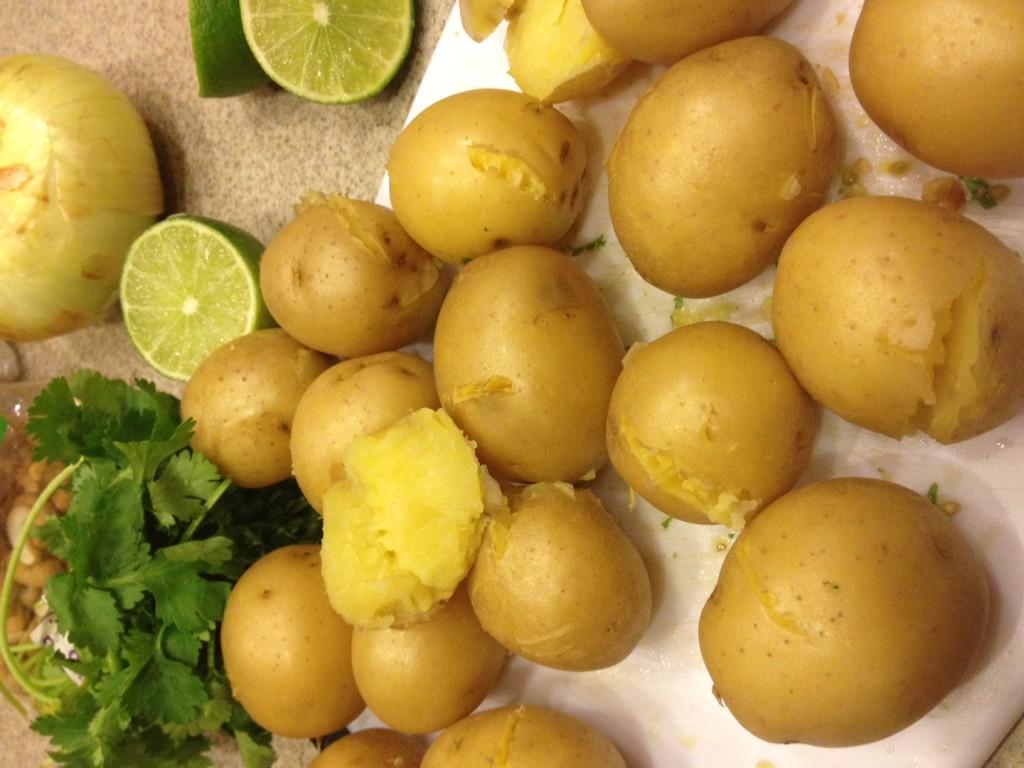 Cooling potatoes