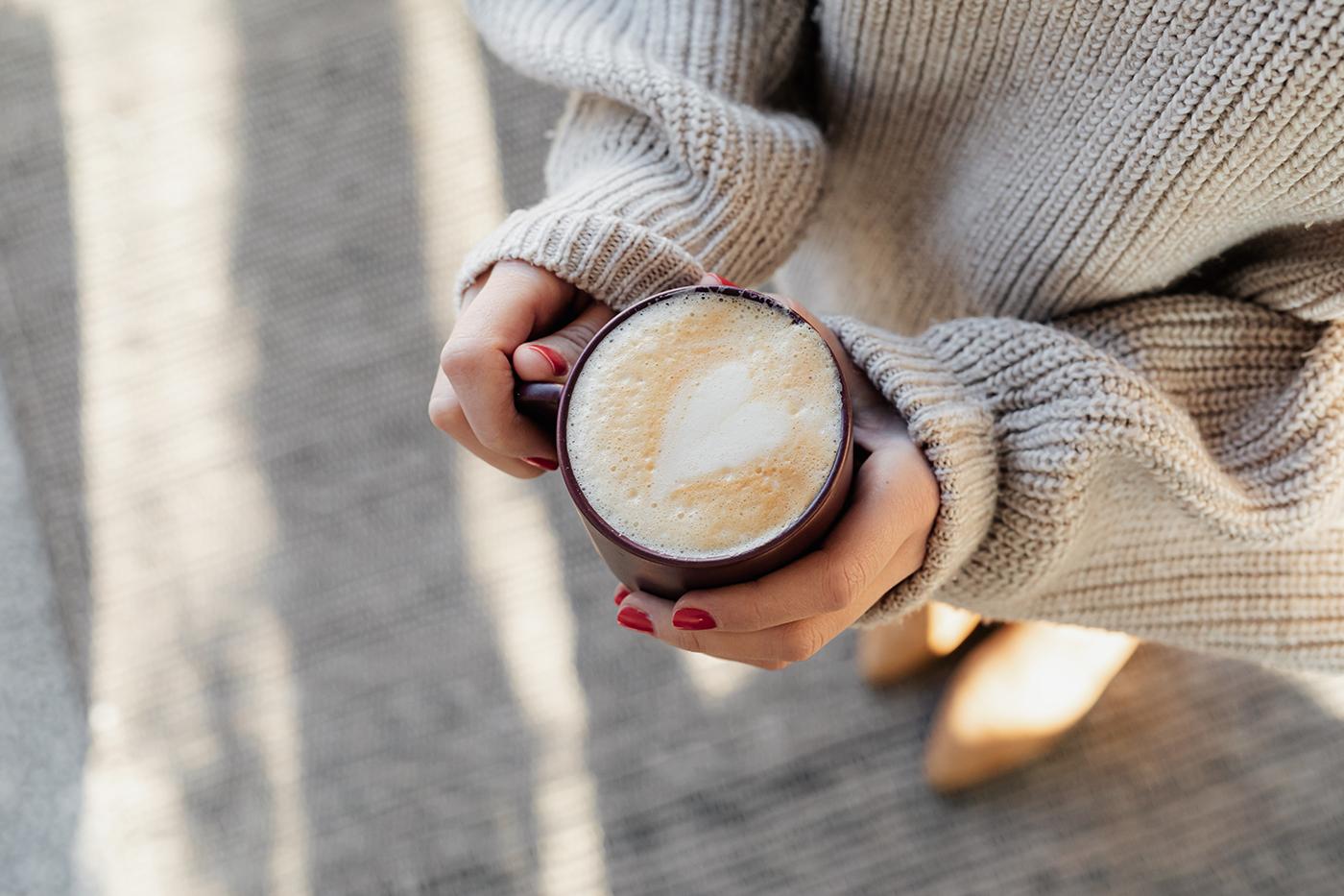 Heart in coffee foam