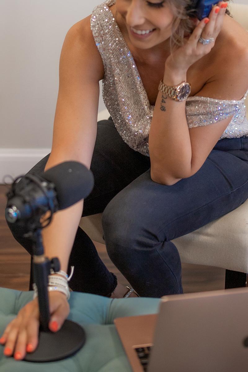 Daffnee Cohen recording podcast
